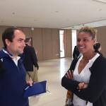 Sophie Badji avec François Tranchant, responsable de la Maison Ozanam
